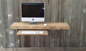 Small Industrial Desk Small Wood Desk With Mid Century Hairpin Legs 36 By Urbanwoodgoods