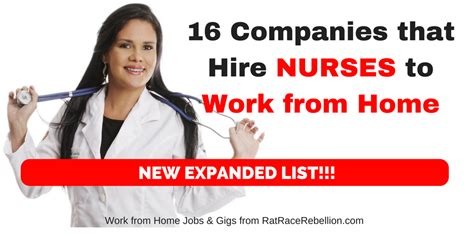 16 companies that hire nurses to work from home new