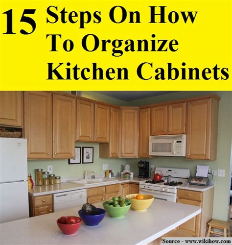 Steps For Organizing Kitchen Cabinets | 15 steps on how to organize kitchen cabinets home and