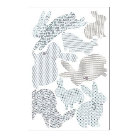 rabbit wall stickers rabbit wall stickers in duck egg blue by koko