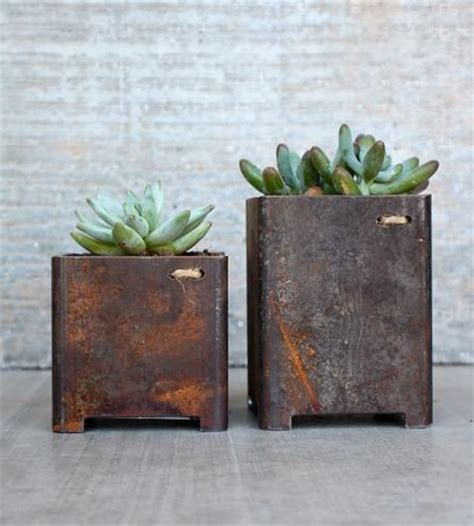 Iron Planters For Outdoors by Square Garden Planters Set Of 2 Gardens Industrial