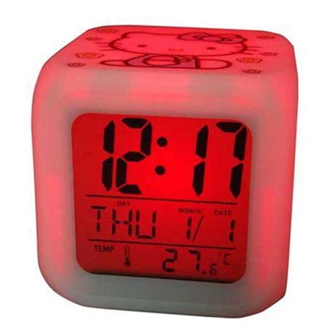 best color for alarm clock desk led digital alarm clock hello kitty glowing led 7