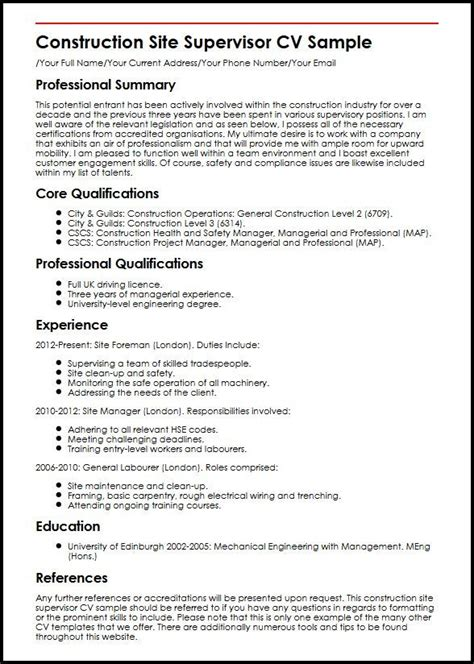 supervisor resume exles 2012 supervisor resume exles 2012 exles of resumes