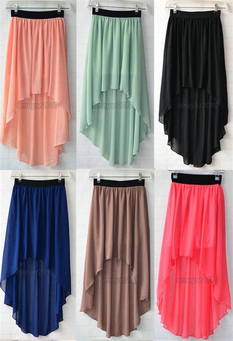new chiffon skirt high low asymmetrical maxi