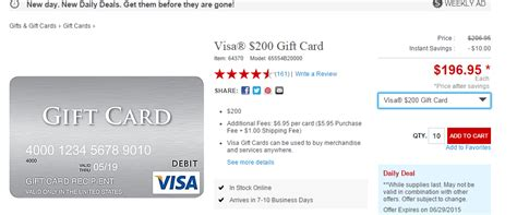 visa gift card fine print 10 off 200 visa gift cards at staples com today only