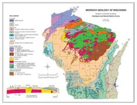 A Section On A Map That Explains The Maps Features by 1000 Images About Wisconsin Maps On Wisconsin