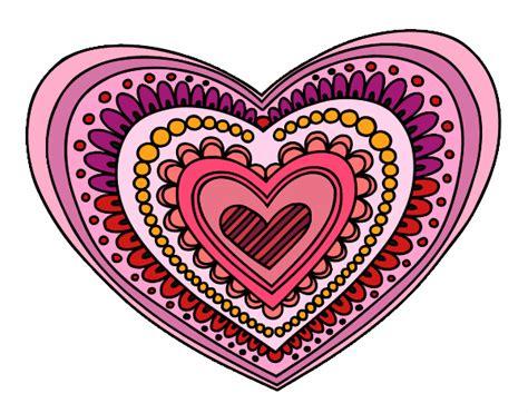 imagenes mandalas de corazones dibujo de mandala coraz 243 n para colorear pictures to pin on