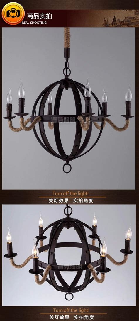 28 nordic decor with vintage touch items similar to 6 heads nordic loft vintage american style rope chandelier
