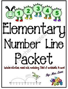 printable number line poster elementary clouds packet super jam packed from mrs lane