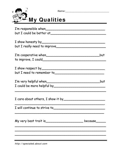 18 best images of life skills worksheets pdf free