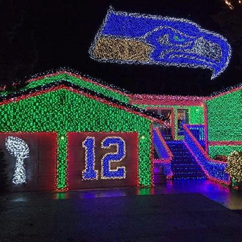 seahawks house hawk house goes dark seahawks themed christmas light show too much for quiet