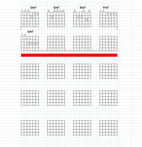 Make Your Own Chord Charts For Guitar Guitar Tab Template Excel