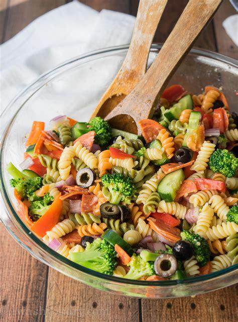 pasta salad recipes with italian dressing italian pasta salad recipe dishmaps
