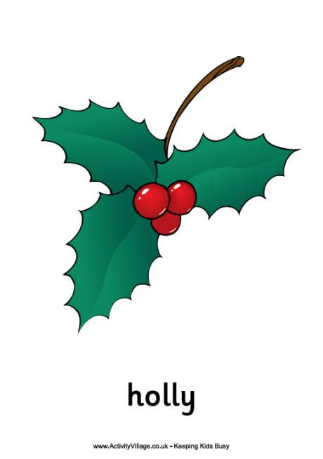 printable christmas holly printable picture of holly berries search results
