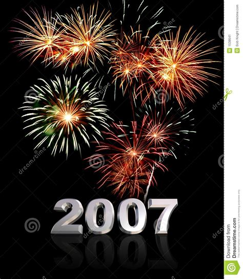 2007 Year Of The New by New Year 2007 Stock Image Image 1538641