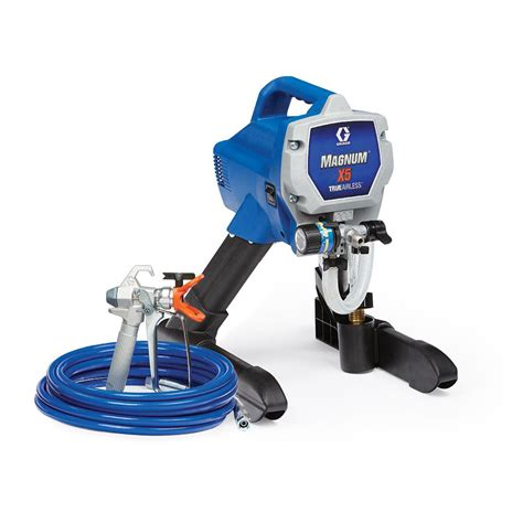 using a home depot paint sprayer graco magnum x5 airless paint sprayer 262800 the home depot