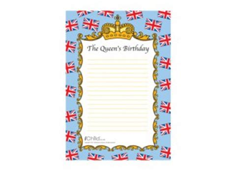 birthday themed writing paper this themed lined writing paper is perfect for your child