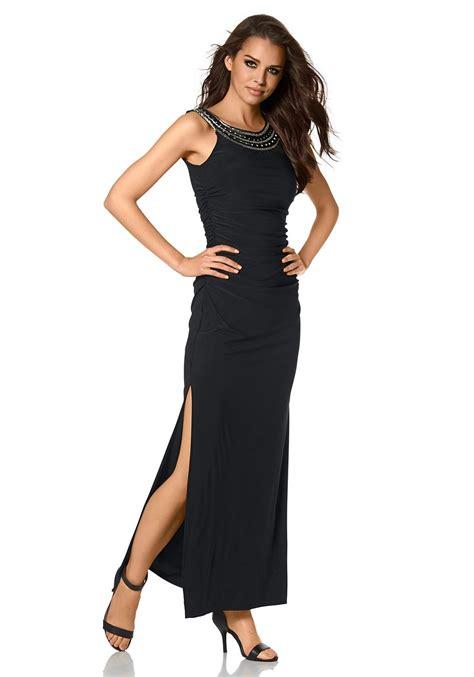 avondjurk bershka galajurk zwart met split populaire jurken uit de hele wereld