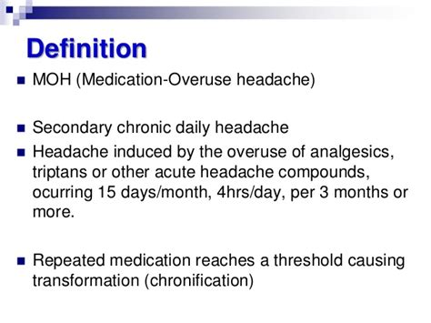 Medication Overuse Headache Detox by Medication Overuse Headache