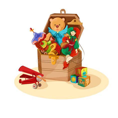 box  retro toys stock vector illustration  children