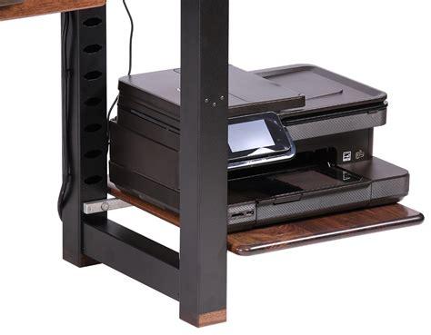 printer shelf for desk large shelf for loft desk walnut caretta workspace
