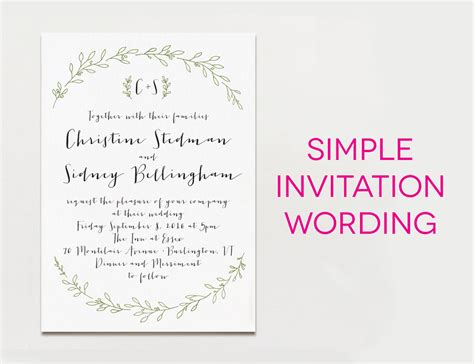 Wedding Invitation Wording Via Email   Invitation Ideas
