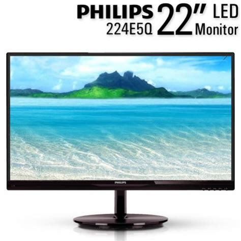 Philips 224e5q 22 Ips Led 21 5 inch ah ips led monitor philips 224e5q 1920 x 1080