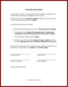 Free Personal Loan Agreement Template Person To Person Loan Contract 100 Dollar Loan For 6