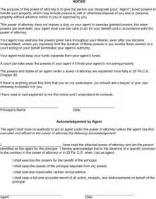 durable power of attorney template durable power of attorney form for excel pdf and word