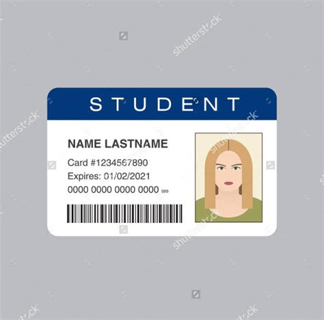 student card template id card template 9 free psd vector eps png format
