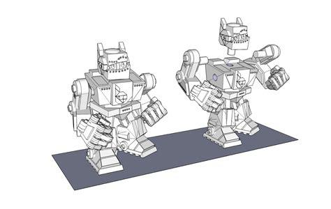 google sketchup robot tutorial i should reallyget out more 3d frankenbot
