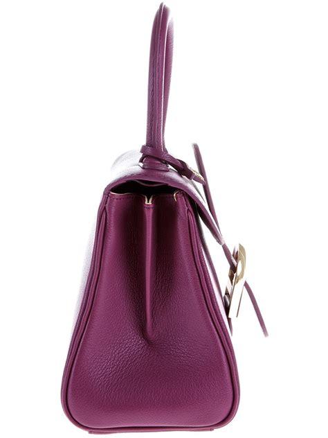 Handbag Delvaux Set Pouch Code 0 delvaux brilliant mini bag in purple lyst