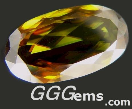 faceted sphene oval 51 47 cts