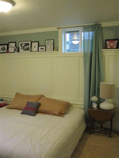 master bedroom in the basement basement bedroom i like the longer curtains on the short