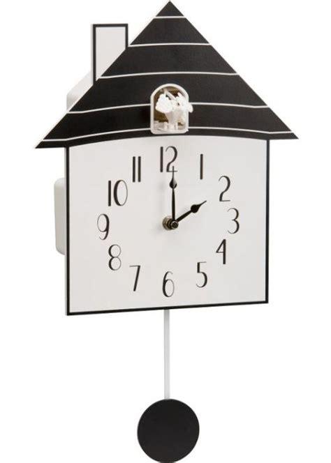 modern cuckoo clock modern black wooden cuckoo wall clock black and white rrp