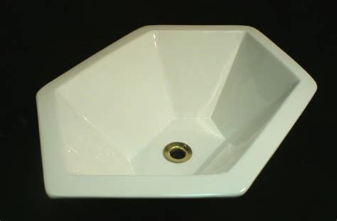 hexagon bathroom sink custom hexagon sink in white modern bathroom sinks