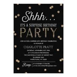 shh birthday faux glitter confetti card zazzle