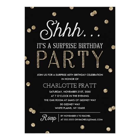 surprise birthday party invitations wblqual com