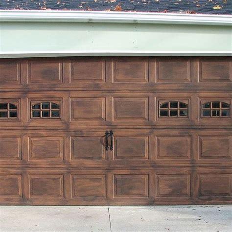 Diy Faux Stained Wood Garage Door Tutorial Faux Garage Doors