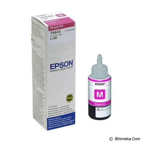 Tinta Cartridge Epson jual epson magenta ink cartridge t6643 murah bhinneka