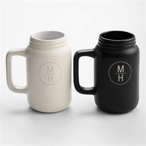 Unique Coffee Mugs by Ceramic Mason Jar Mugs The Green Head