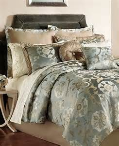 raleigh pale blue jacquard 24 piece queen comforter set