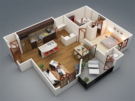 one bedrooms 1 bedroom apartment house plans smiuchin