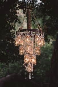 wagon wheel chandelier diy rustic wedding ideas 30 ways to use jars