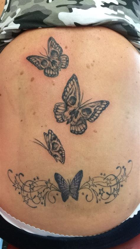 skull and butterfly tattoo 1000 ideas about skull butterfly on