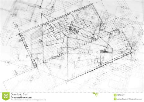 modern architecture plans drawing od a modern building architecture plans stock