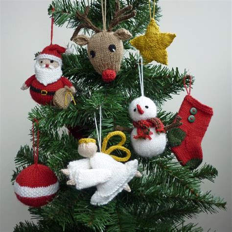 christmas tree decorations to knit holliday decorations