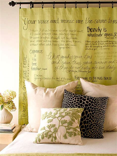 Diy Using Fabric And Quotes Headboard