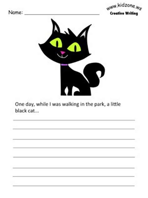cat writing prompt