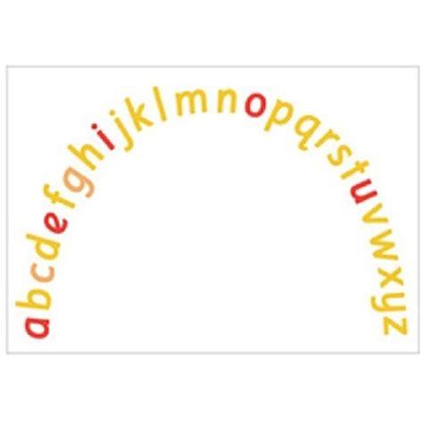Alphabet Arc Mats by Pin Alphabet Arc Printable On